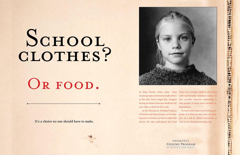 Emergency Feeding Program - School Clothes? Or Food.