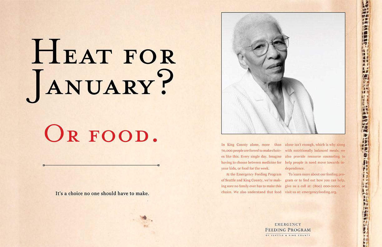 Emergency Feeding Program -Heat for January? Or Food.
